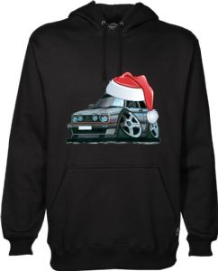 XMAS KOOLART SANTA HAT CHRISTMAS Design For Retro Mk2 VW Golf GTi Hoodie Hooded Top